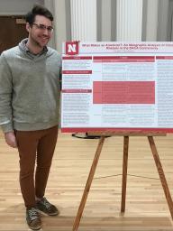 Cooper Christiancy presents his work at Fall 2017 Capstone Poster Session