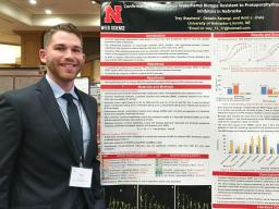 Trey Stephens received first place in the NCWSS Agronomic Crops undergraduate poster contest.