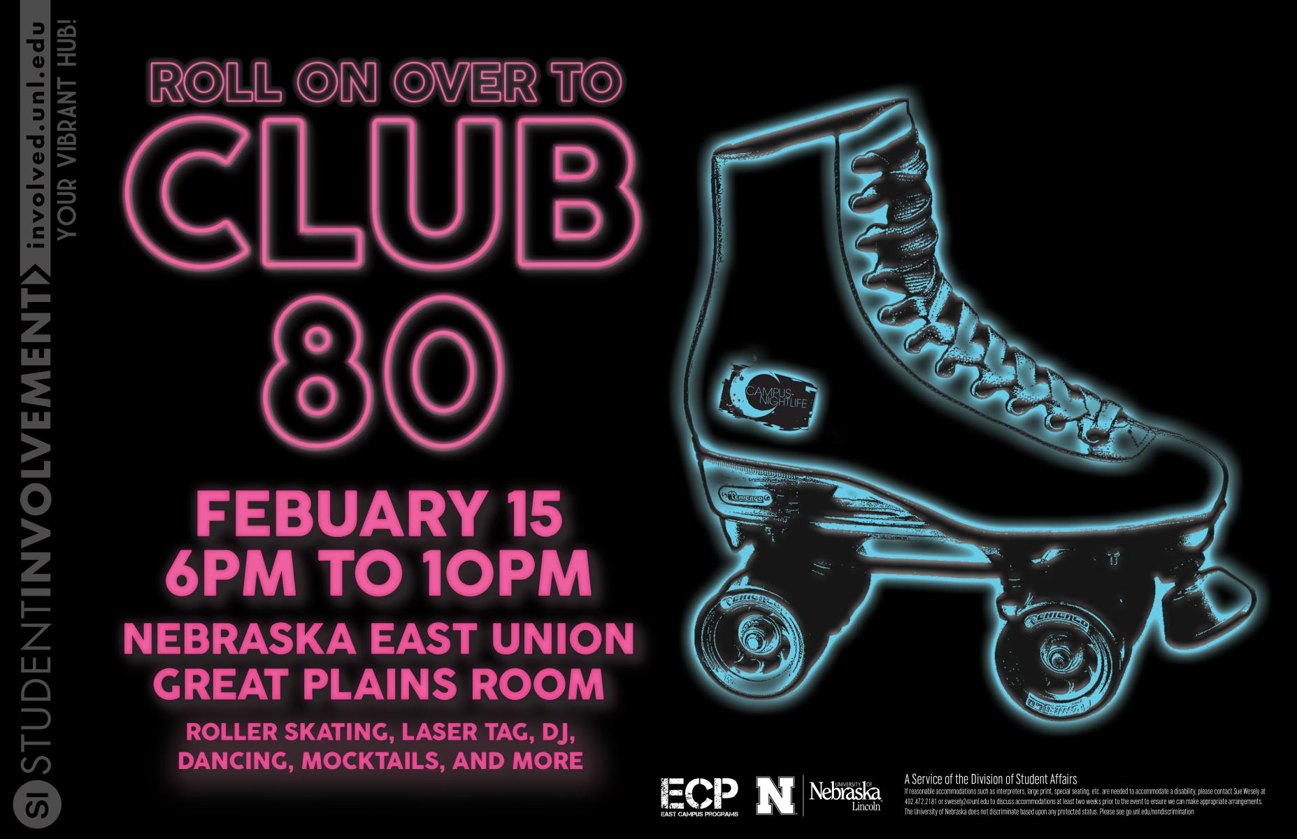 Club 80 Event Flier