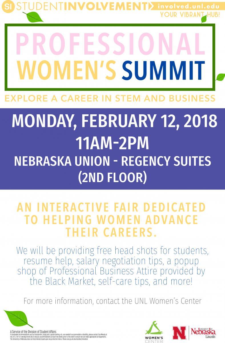 Professional Women's Summit Flier