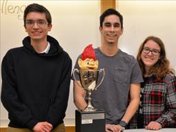 The winning team, novocAI, from left to right: Joshua Jones, Trevor Fellbaum, Jenny Wynn and Jon Pynes. Photo courtesy of the College of Business.