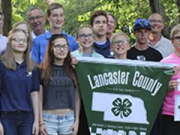 Lancaster County 4-H Teen Council receiving a Governor's Ag Excellence Award in 2017