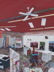 Sarah McEneaney paints autobiographical interiors, landscapes and cityscapes.