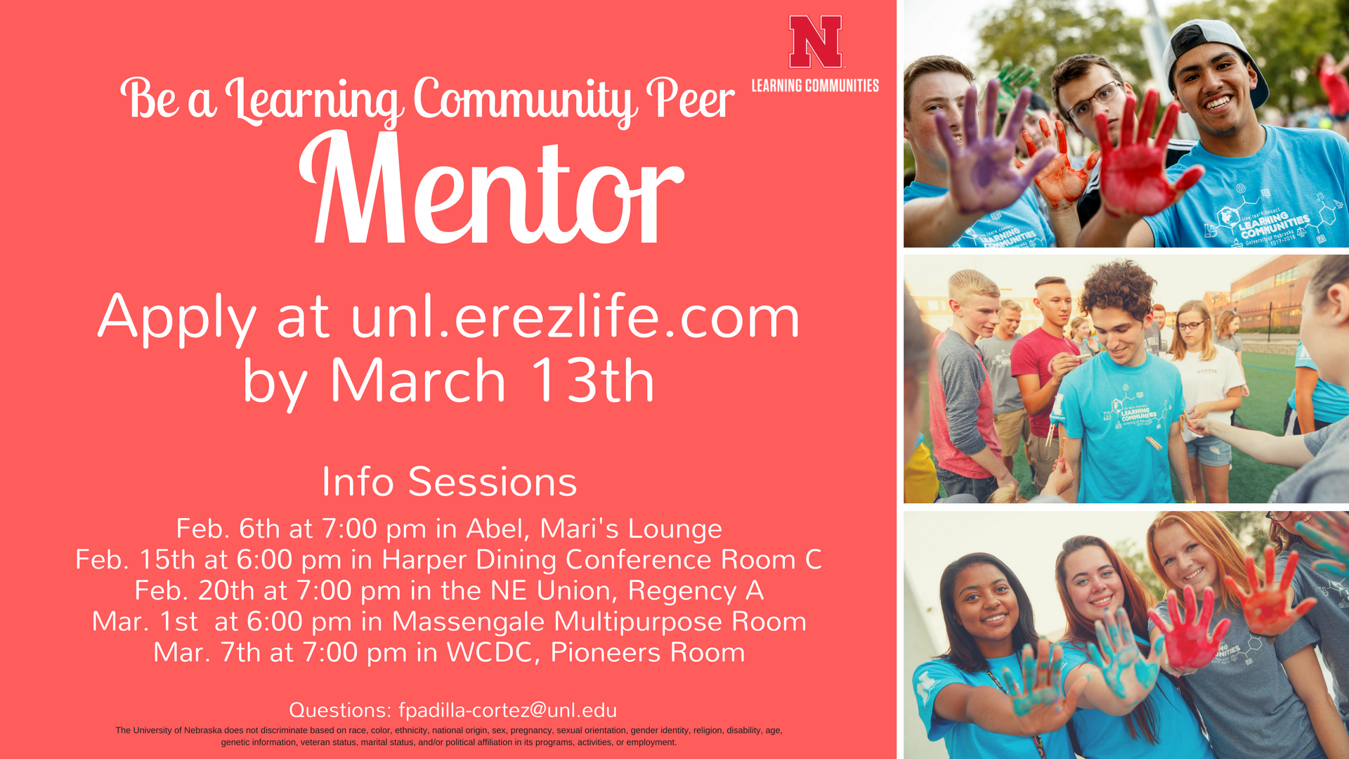 Be a Learning Community Peer Mentor.