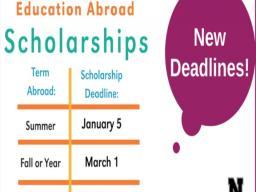 Study Abroad Deadline
