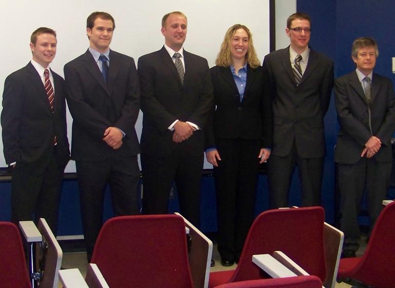 Members of UNL's Imperial Barrel Award Competition team are (from left) Drew Seymour, Trevor Hurd, Steven Wooden, Kristen Mitchell, Andrew Hutsky and faculty adviser Chris Fielding.