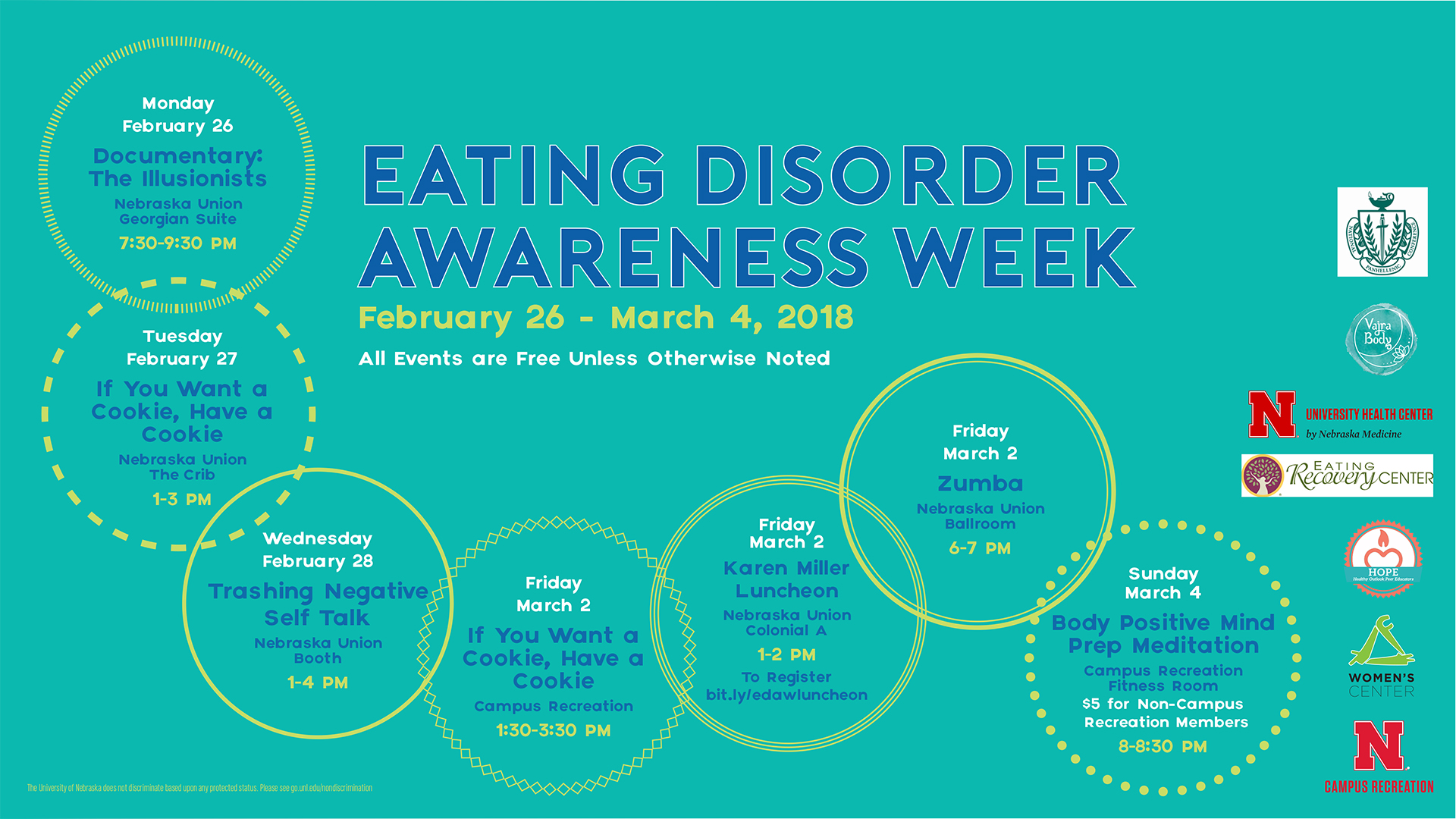 Eating Disorder Awareness Week flier