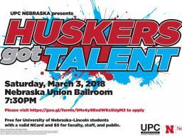 Huskers Got Talent flier
