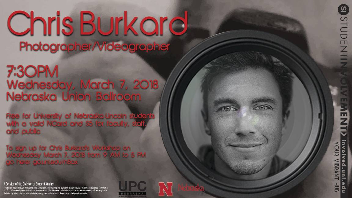 Come learn from a world-renowned photographer and explorer!!!