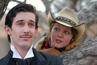 Aric Damm as Orsino and Calandra Daby as Viola. Photo by Doug Smith.