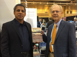 """Roger Pulwarty, NOAA senior science advisor for climate research, left, and Don Wilhite,  founder of the National Drought Mitigation Center, recently updated the """"Drought and Water  Crisis"""" resource book to meet current standards. 