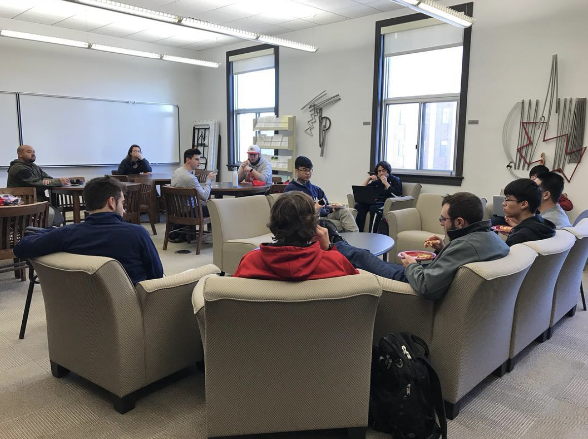 CSE students participating in the Fall 2017 Student Advisory Panel.