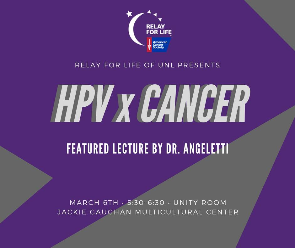 HPV x Cancer - March 6th 5:30-6:30; Jackie Gaughan Multicultural Center
