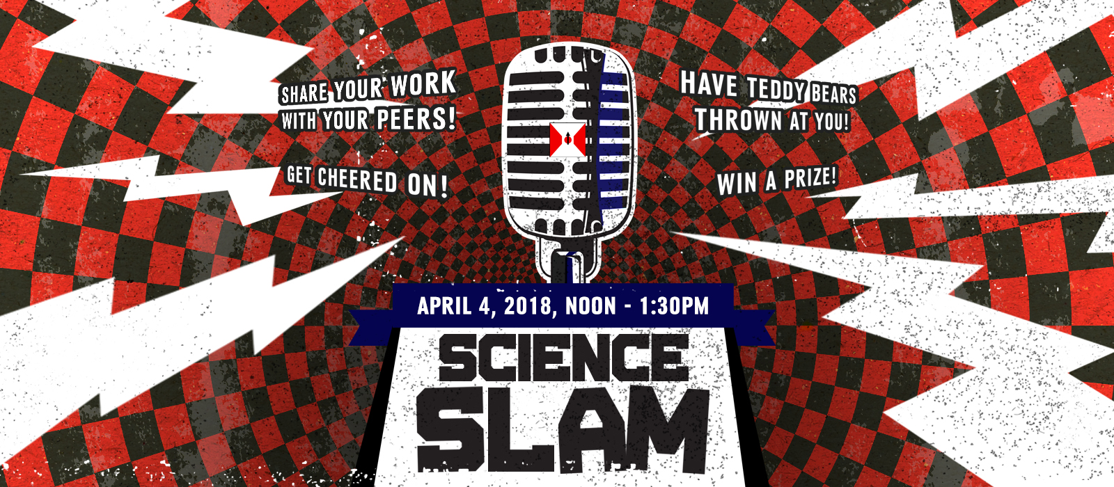 'Science Slam' campuswide contest is April 4 in the Great Hall of the Wick Alumni Center.