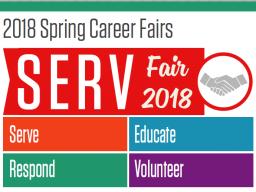 2018 SERV Career Fair flier