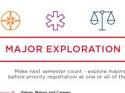 Major Exploration Week: March 6-8, 2018