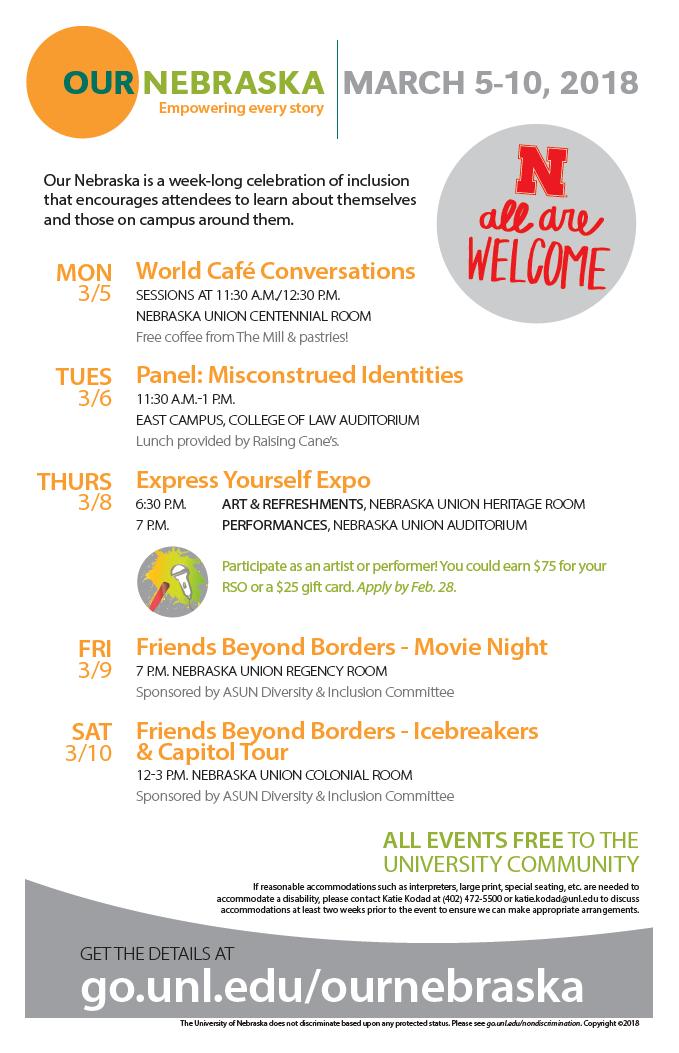 Our Nebraska event flier