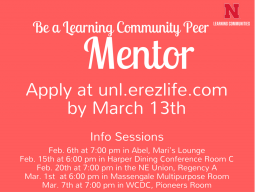 Become a Learning Community peer mentor.