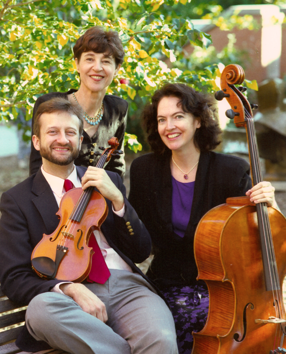 Members of The Castalia Trio (from left) are James Lyon, Marylene Dosse and Kim Cook.