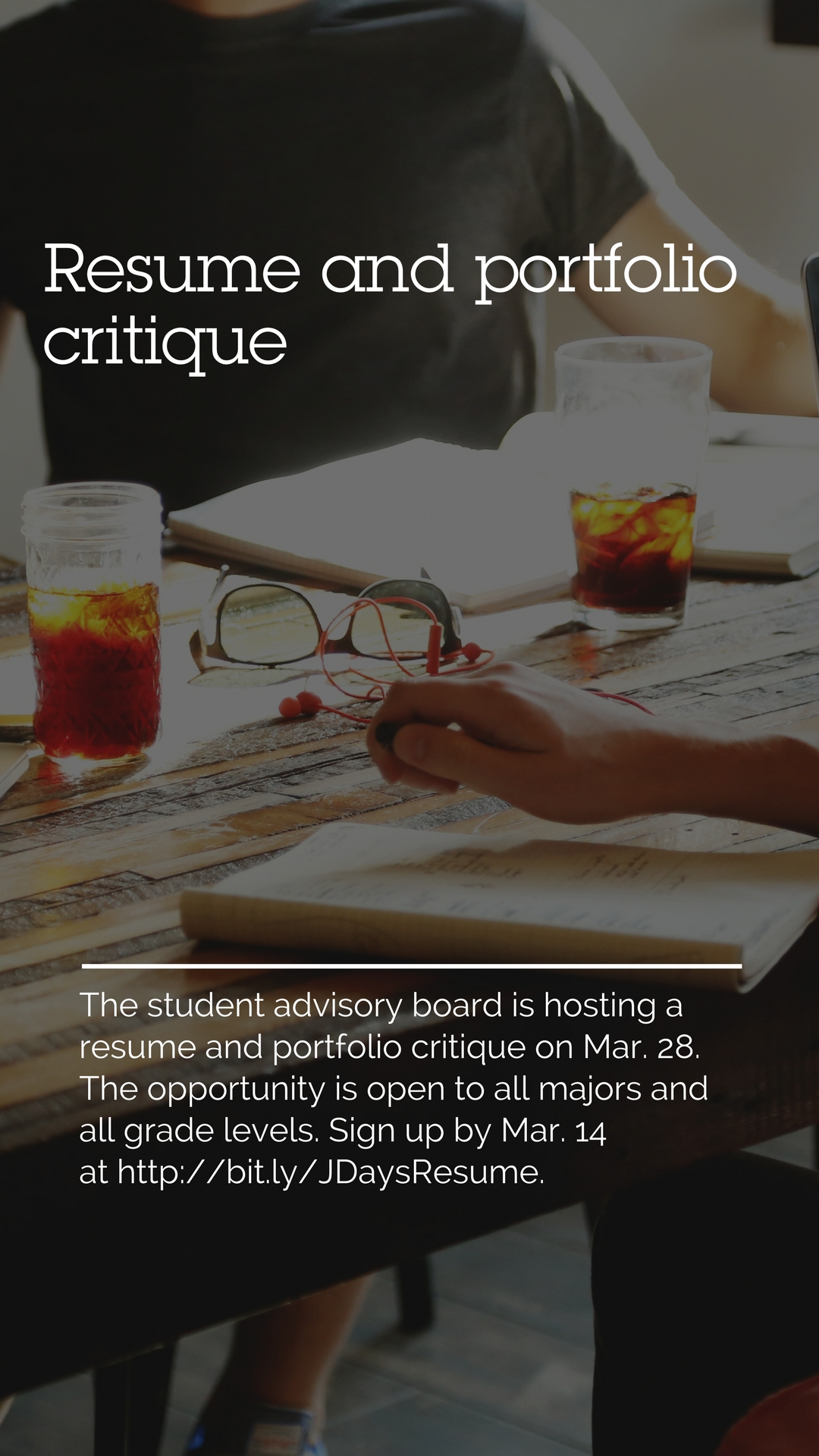sign up for a resume and portfolio critique