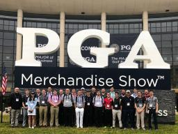 Students and faculty leaders at the 2018 Merchandise Show in Orlando, Florida