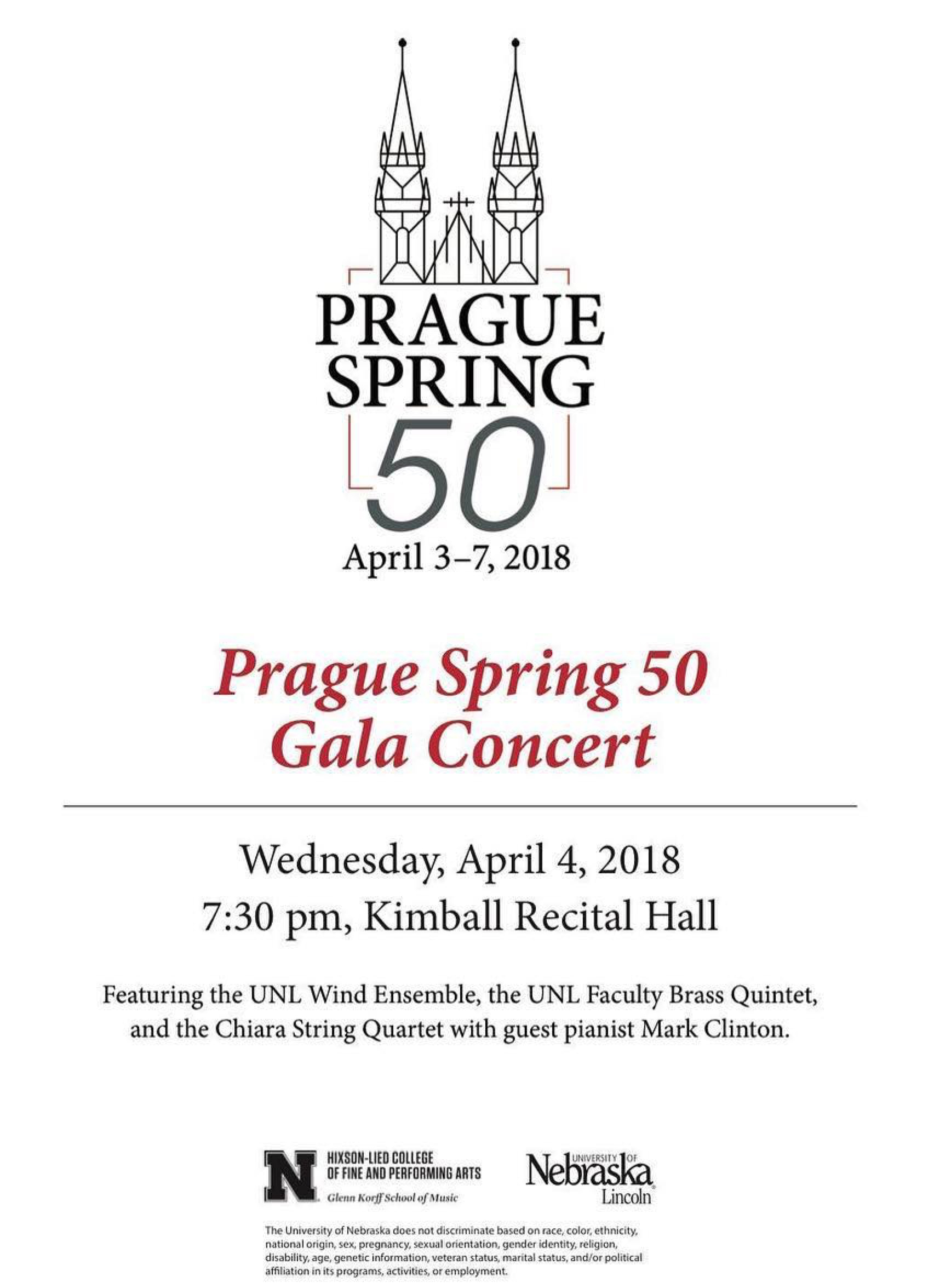 """""""Prague Spring 50: From Dvorak to Husa, and Beyond"""" will be performed April 4 in Kimball Recital Hall."""