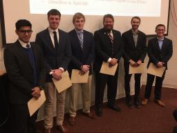 Fall 2017 CASNR Dean's List (from left to right) includes Nakul Paliwal, Zac Morley, Ryan Douglas, Bill Rhiley, Sam Rice, and Joe Sherman