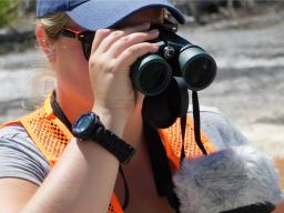 Kelly Willemssens conducts research.   Courtesy photo
