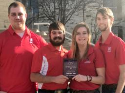 Nebraska's winning Crops Judging team includes agronomy senior Shawn McDonald and agronomy juniors Rodger Farr, Samantha Teten and Kolby Grint.