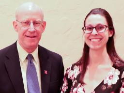 Richard Ferguson with Megan Franklin, receipient of the Martin Massengale Outstanding Senior Award.