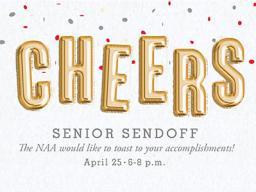 The Nebraska Alumni Association will host Senior Sendoff on Wednesday, April 25 from 6 - 8 p.m.