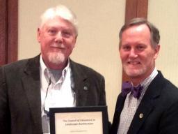 Richard Sutton (left) and CELA President Mark Boyer