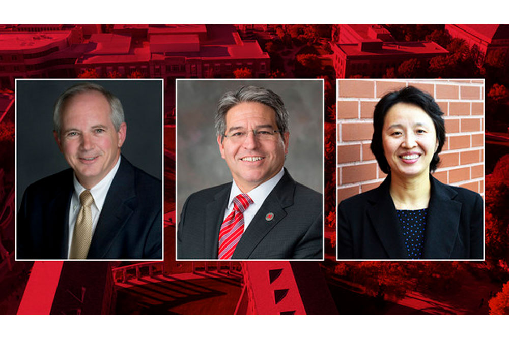 Finalists to become the next dean of Nebraska Engineering are (from left) David Ashley, Lance C. Pérez and Mei Wei. Campus interviews begin Wednesday.
