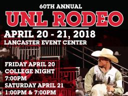 Join us for the UNL Rodeo on April 20-21