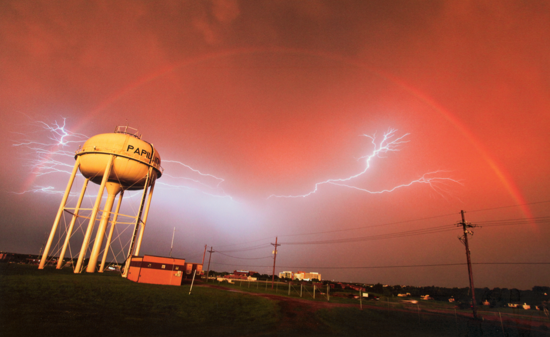 "2010 Grand Prize-winning photograph, ""Papillion Storm Passing,"" by Matthew DeBoer of Papillion."