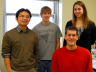 Pictured (clockwise, from far left) is Jun Wang, Jacob Anderson, Amy Gehring and David Peterson.
