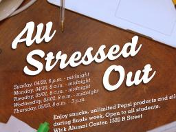 Enjoy snacks, unlimited Pepsi products and silence during finals week.