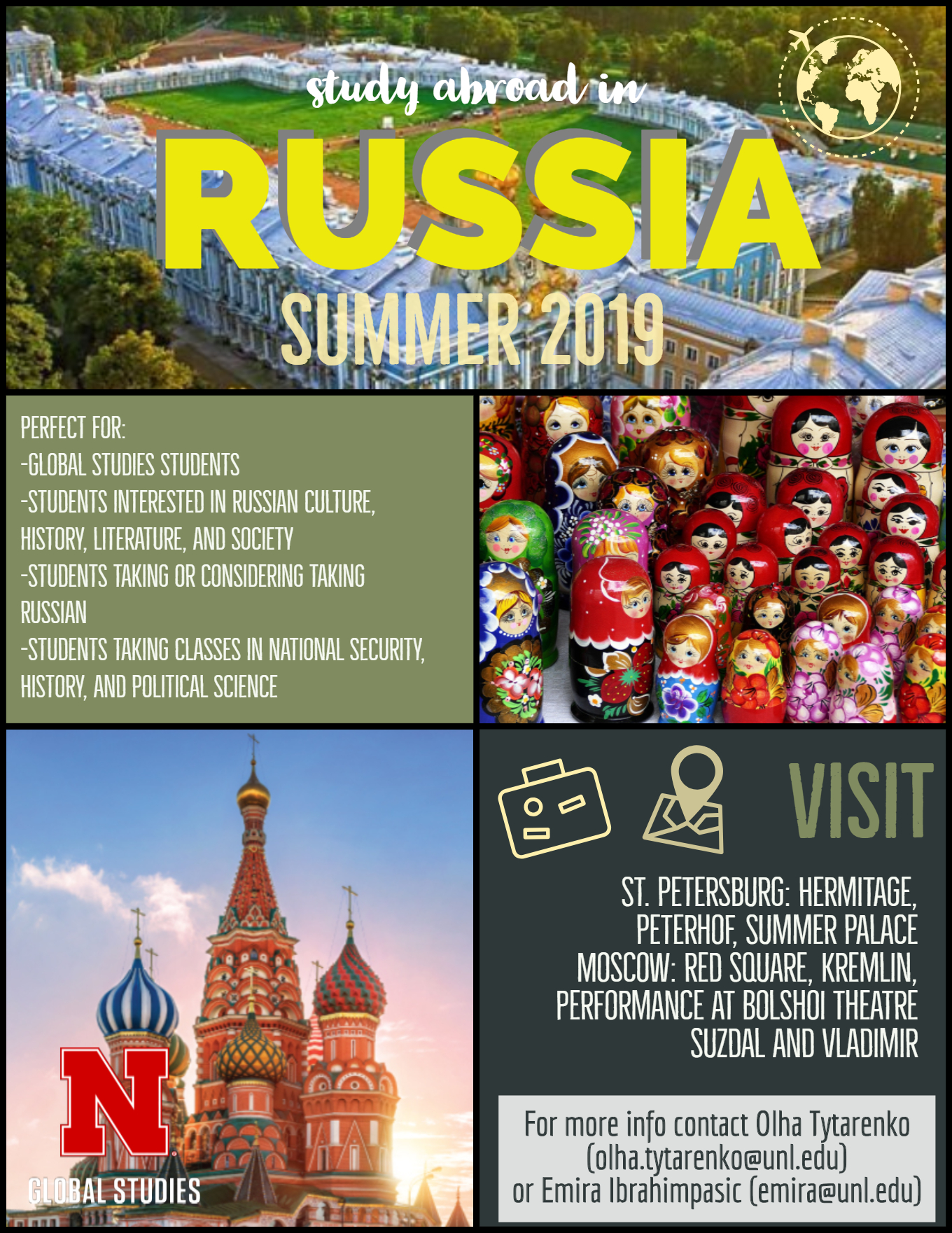 Visit Russia with Global Studies in Summer 2019