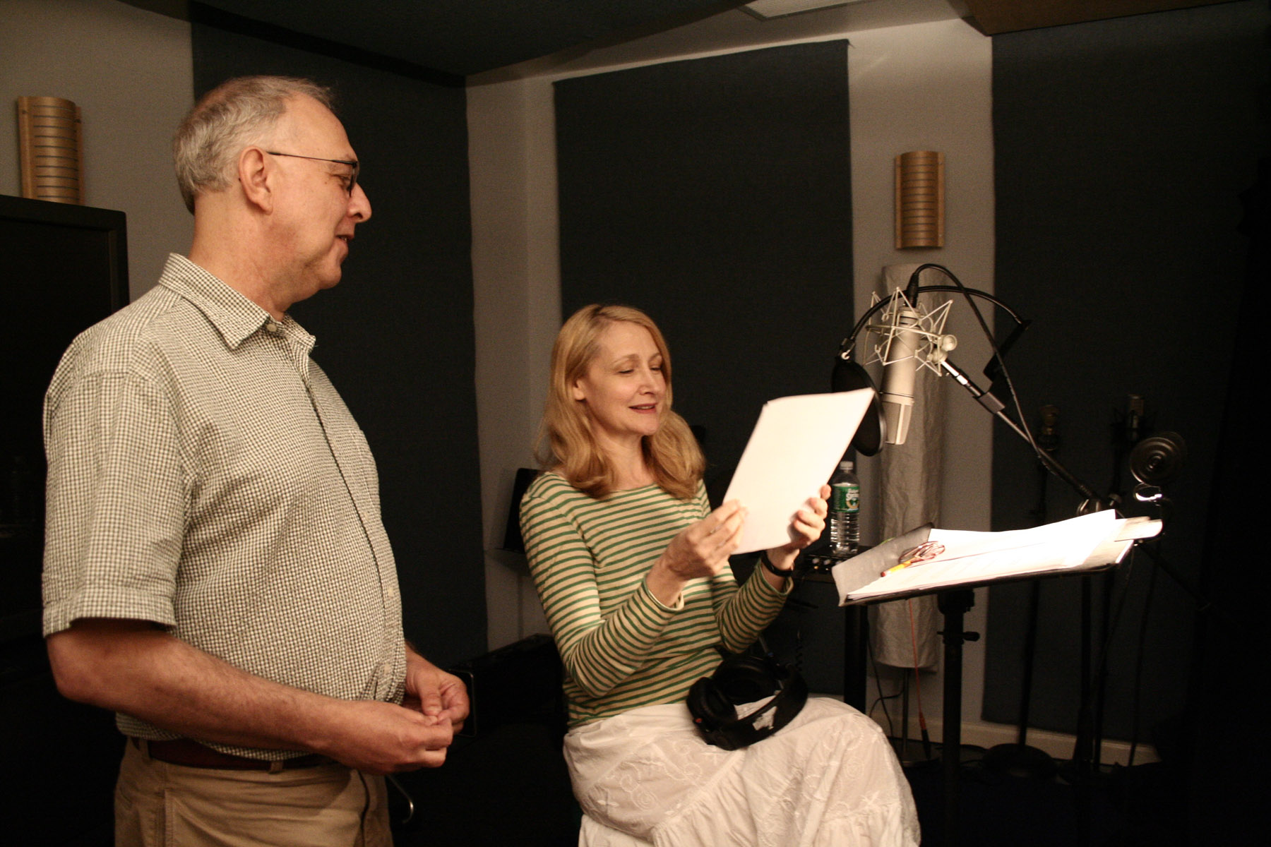 Gerald Peary and Patricia Clarkson