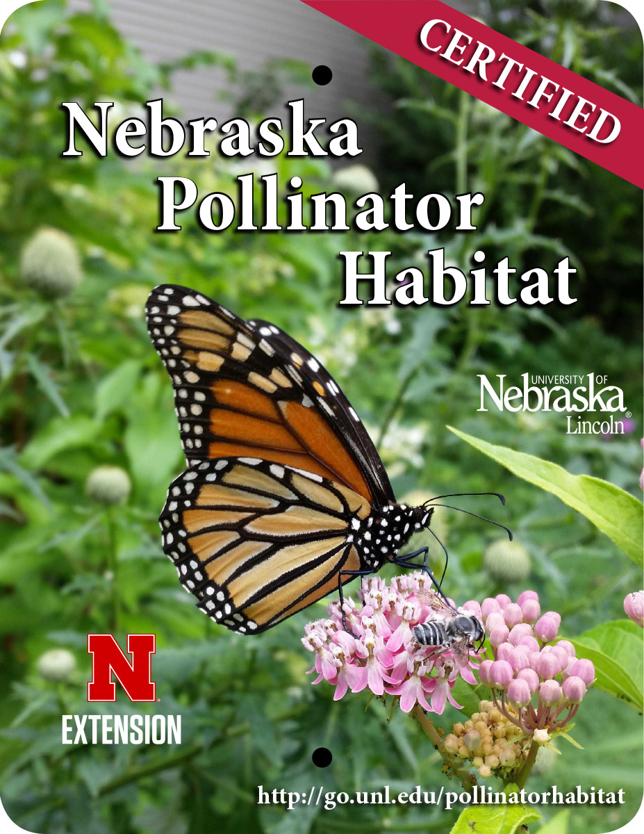 When your habitat is certified, you are eligible to purchase a sign to display ($30).