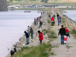 Anglers use Lake Wanahoo to fish, both from the bank and from boats, in Nebraska. | Keith Hurley, Nebraska Game and Parks Commission.