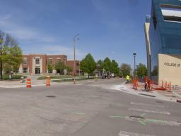 The intersection of 14th and Vine streets will be the center of a water main replacement project this summer. The city-led project will cause disruptions to vehicle and pedestrian traffic on City Campus.