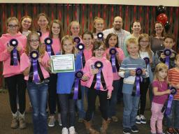 Boots N' Hooves 4-H club earned large club champion for top stall decorations at the 2017 Lancaster County Super Fair, recognized at last year's Lancaster County 4-H Horse Awards night.