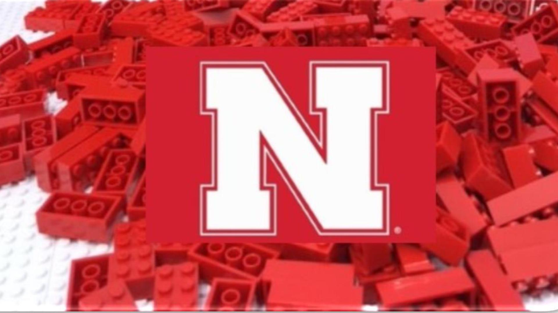 The BIG RED HUSKER LOGO/FLAG logo