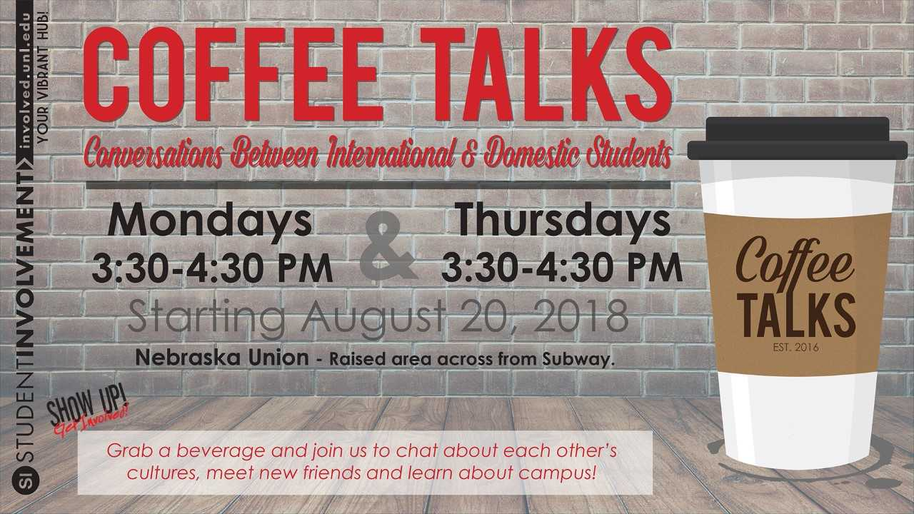 Join us for great conversations