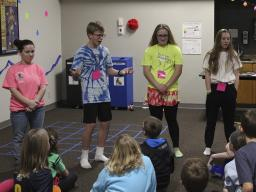 4-H Teen Council members planned and led the 4th & 5th grade Lock-In January 2018.