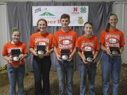 4-H/FFA Elite Showmanship Contest top winners