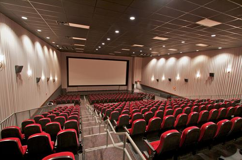 A theater inside the Lincoln Grand Cinema. The downtown Lincoln theater will be used to gauge the need for a large lecture classroom on campus.