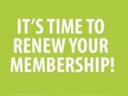 It's time to renew your membership